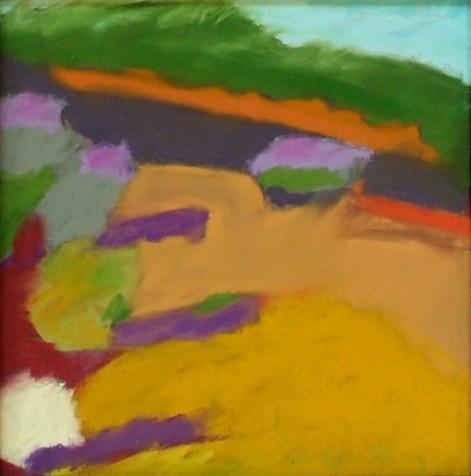 Color Field, pastel, 13 x 13