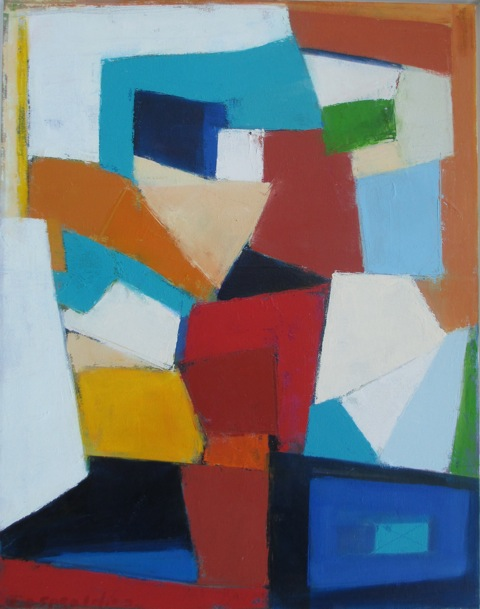 Tango in Blue, oil, 28 x 22