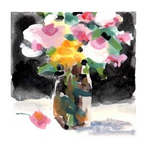 Color of Light, gouache, 13 x 13