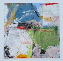 Uncharted, acrylic, 14 x 14